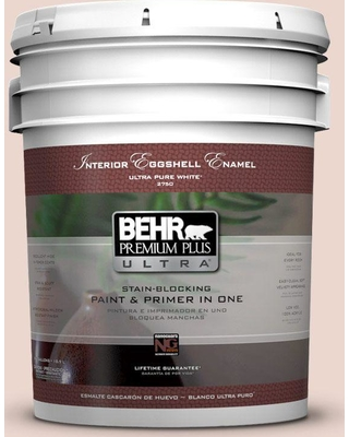 BEHR Premium Plus Ultra 5 gal. #210E-2 Antique Pearl Eggshell Enamel Interior Paint and Primer in One