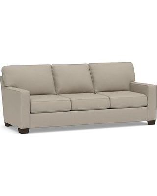"""Buchanan Square Arm Upholstered Grand Sofa 89.5"""", Polyester Wrapped Cushions, Performance Brushed Basketweave Sand"""