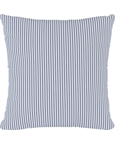 Navy Stripe Throw Pillow - Cloth & Co, Oxford Stripe Navy
