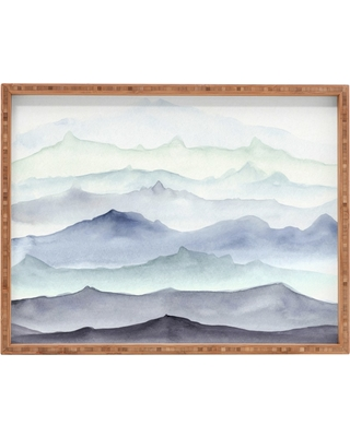 Wonder Forest Mountain Mist Tray (18) - Deny Designs, Blue