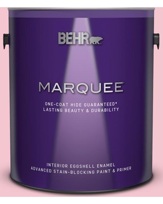 BEHR MARQUEE 1 gal. #120B-4 Old Fashioned Pink Eggshell Enamel Interior Paint and Primer in One