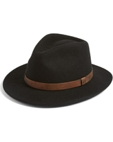 Men's Brixton Messer Ii Felted Wool Fedora - Black