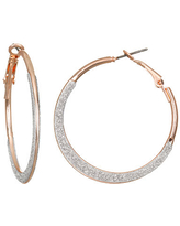Bijoux Bar Round Hoop Earrings, One Size , Multiple Colors