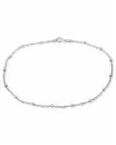Giani Bernini Sterling Silver Ankle Bracelet, Singapore Chain, Created for Macy's - Silver