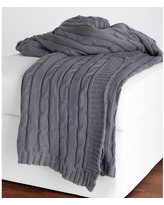New Deal For Allied Home Multi Knit Sweater Throw Grey