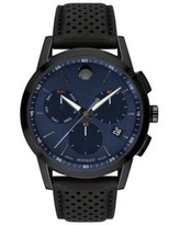Movado Blue Dial Gunmetal PVD Finished Stainless Steel Watch