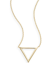 Ophol 14K Yellow Gold Triangle Pendant Necklace