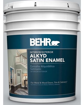 Behr Marquee 8 Oz Mq5 29 Gotham Gray One Coat Hide Matte Interior Exterior Paint And Primer In Sample