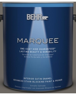 BEHR MARQUEE 1 gal. #PPU24-04 Burnished Pewter Satin Enamel Interior Paint and Primer in One