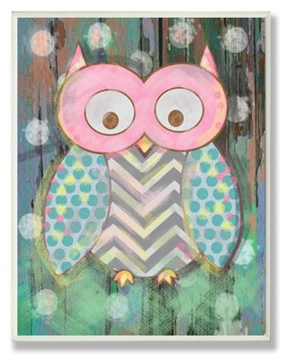 The Kids Room by Stupell Distressed Woodland Owl Oversized Wall Plaque Art, 12.5 x 0.5 x 18.5