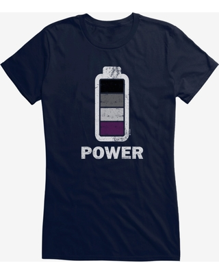 i-Create Pride Asexual Power Up Girls T-Shirt