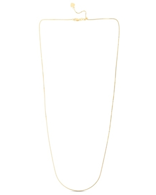 """Jared The Galleria Of Jewelry Box Chain Necklace 14K Yellow Gold 22"""" Adjustable"""