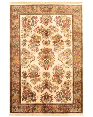 "Hand-knotted Essex Ivory Wool Rug (Ivory - 6'0"" x 8'11""/6'0 x 8'11)"