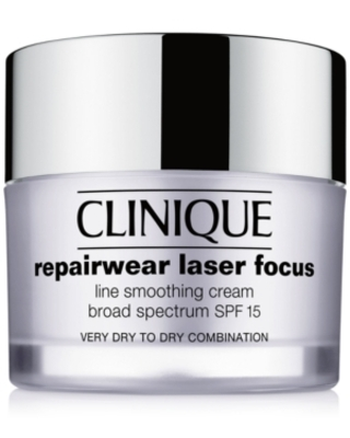 Clinique Repairwear Laser Focus Line Smoothing Cream Spf 15 - Very Dry to Dry Combination, 1.7 oz