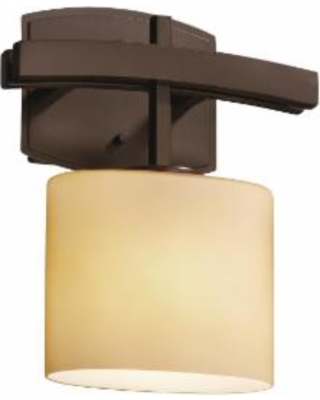 Justice Design Group Fusion 11 Inch Wall Sconce - FSN-8597-30-ALMD-DBRZ