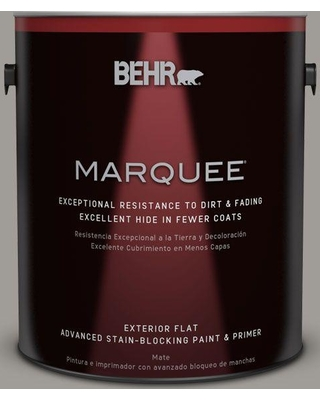 BEHR MARQUEE 1 gal. #bnc-17 Casual Gray Flat Exterior Paint and Primer in One