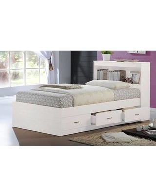 Viv Rae Keira Platform Bed With Storage Color White Size Twin From Wayfair Paing