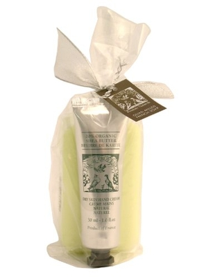 Pre de Provence Gift Shea Hand Cream and Soap, Linden, 6.6 ounces Bag