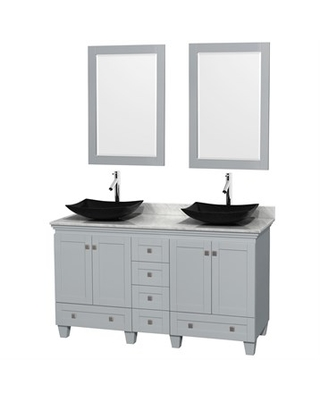 """Acclaim 60"""" Double Bathroom Vanity for Vessel Sinks by Wyndham Collection - Oyster Gray"""