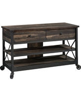 Steel River TV Stand Carbon Oak - Sauder