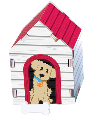Build It Blueprint Puzzles - Dog House - Building & Construction for Ages 4 to 6 - Fat Brain Toys