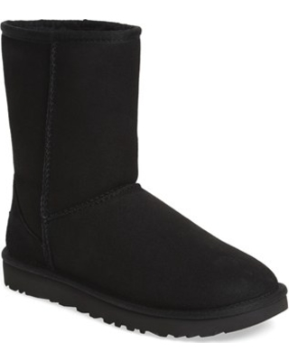 Women's Ugg Classic Ii Genuine Shearling Lined Short Boot, Size 7 M - Black