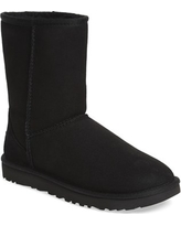 Women's Ugg 'Classic Ii' Genuine Shearling Lined Short Boot, Size 7 M - Black