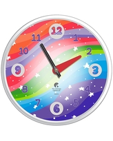 """12.75"""" x 1.5"""" Stars Ultraviolet Decorative Wall Clock White Frame - By Chicago Lighthouse"""