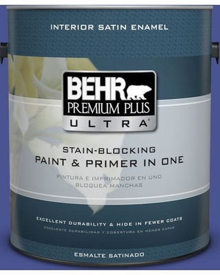 BEHR Premium Plus Ultra 1 gal. #P540-7 Canyon Iris Satin Enamel Interior Paint and Primer in One