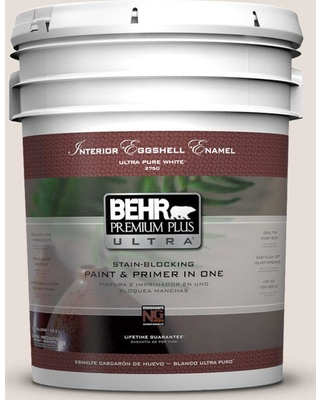 BEHR Premium Plus Ultra 5 gal. #PPU2-04 Pale Cashmere Eggshell Enamel Interior Paint and Primer in One