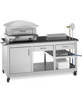 Kalamazoo Artisan Fire Outdoor Pizza Oven & Pizza Station, Natural Gas