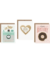 Inklings Paperie Birthday Scratch-off Greeting Cards - 3 Count, Multi-Colored