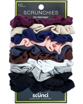 Scunci Everyday & Active No Damage Large Interlock Twister Scrunchies - 10pk, Women's, Multi-Colored