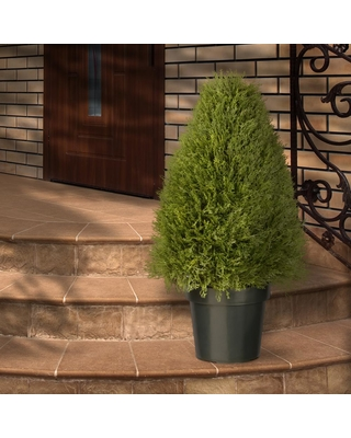 National Tree Company 30 in. Upright Juniper Artificial Tree in Green Round Growers Pot