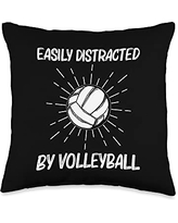 Best Volleyball Team Captain Ball Lovers Cool Volleyball Gift For Men Women Player Indoor Beach Sport Throw Pillow, 16x16, Multicolor