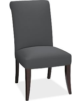 PB Comfort Roll Arm Upholstered Dining Side Chair, Premium Performance Basketweave Charcoal