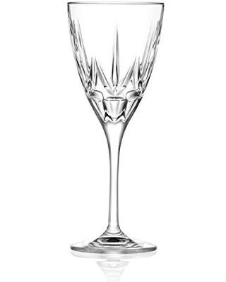 Lorren Home Trends Chic Set of 6 Red Wine Goblets, One Size, Clear