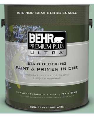 BEHR ULTRA 1 gal. #MQ6-13 Spring Reflection Semi-Gloss Enamel Interior Paint and Primer in One