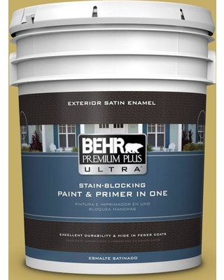 BEHR Premium Plus Ultra 5 gal. #bic-41 Champagne Grape Satin Enamel Exterior Paint and Primer in One