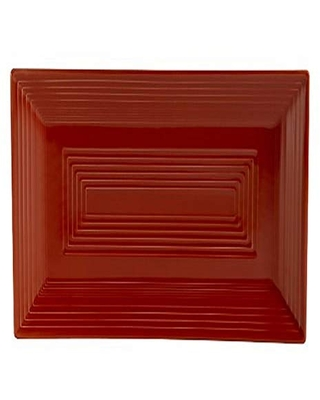 CAC China TG-RT13R Tango Red Porcelain Rectangular Platter, 11-5/8-Inch by 6-3/8-Inch, Box of 12