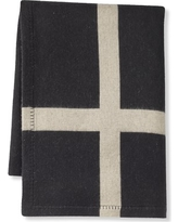 """Cashmere and Wool Equestrian Throw, 50"""" X 70"""", Black"""