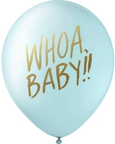 Inklings Paperie Blue Designer Baby Shower Balloons - 12 Count