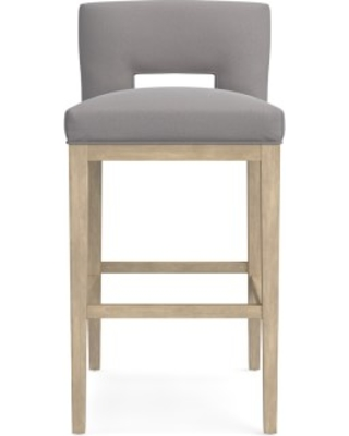 Saratoga Dining Bar Stool, Signature Velvet, Sharkskin, Heritage Grey Leg