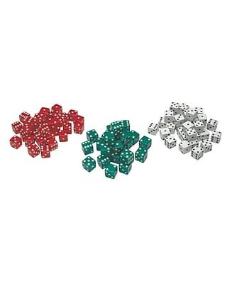 Learning Advantage™ Red, Green & White Dot Dice Game, 12/Pack