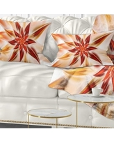 New Savings On Designart Dance Of Brown Exotic Flower Floral Throw Pillow Square 16 In X 16 In Small