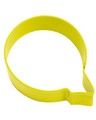 R&M Letter Q Cookie Cutter Yellow With Brightly Colored, Durable, Baked-on Polyresin Finish