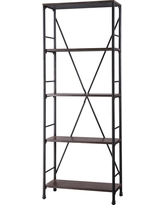 Mixed Material 4 Shelf Bookcase - Brown - Threshold