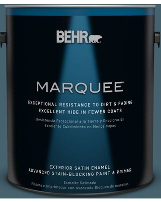 BEHR MARQUEE 1 gal. #bnc-28 Nostalgic Evening Satin Enamel Exterior Paint and Primer in One