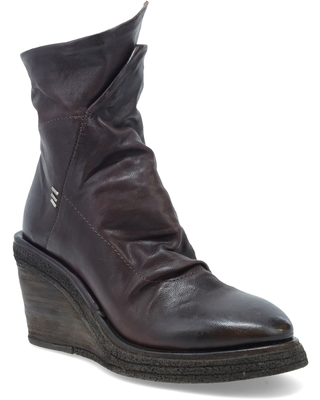 Women's A.s.98 Tremont Wedge Bootie, Size 8.5-9US - Burgundy