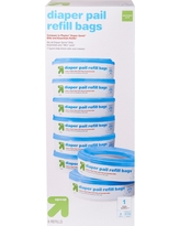 Diaper Pail Refill Bags - 8 Count - up & up, Multi-Colored